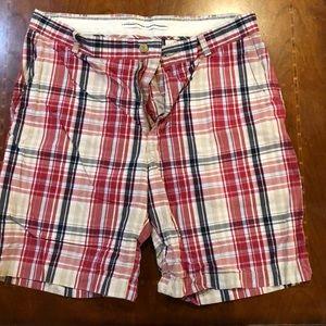 Men's Nautica RWB plaid shorts